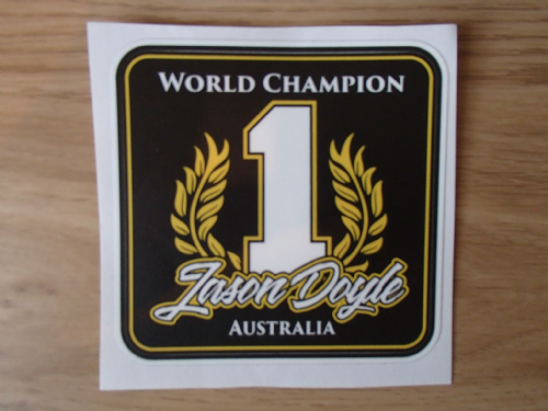 WORLD CHAMPION STICKER